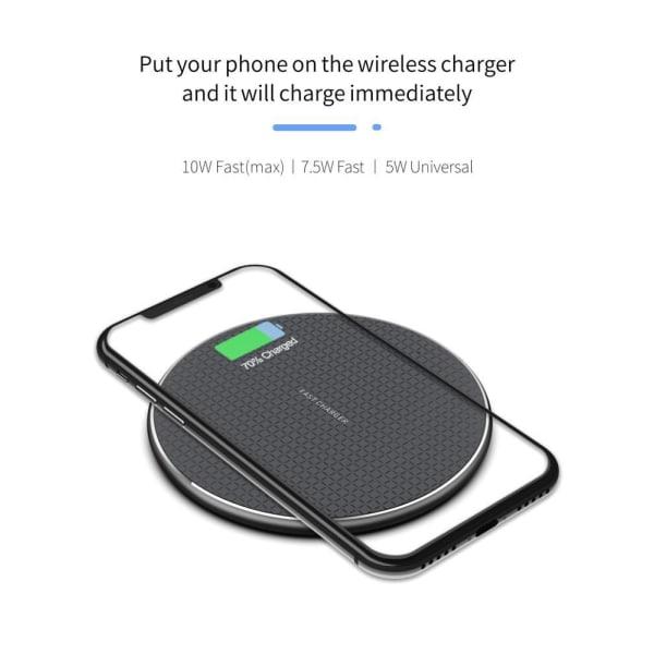 uSync™ Trådlös Laddare Fast Charge iPhone/Samsung/LG 10W Svart