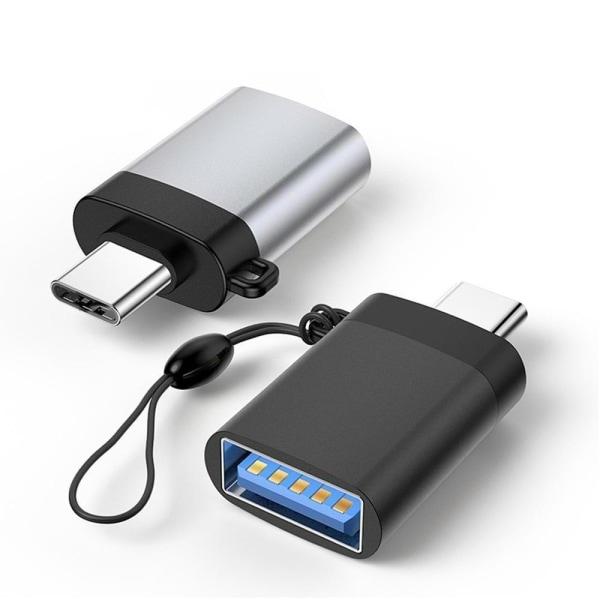 uSync™ USB-C till USB-A USB 3.1 OTG Adapter  Svart