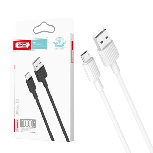 XO® 1m Hållbar Micro-USB Laddare Samsung/Sony/Huawei/m.fl. - Vit Vit