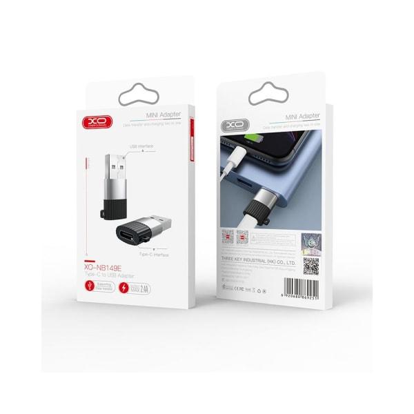 XO™ USB-C till USB adapter  Svart