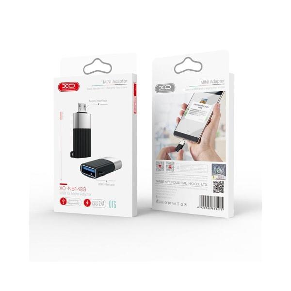 XO™ USB till Micro-USB adapter (OTG Adapter USB 3.0) Svart
