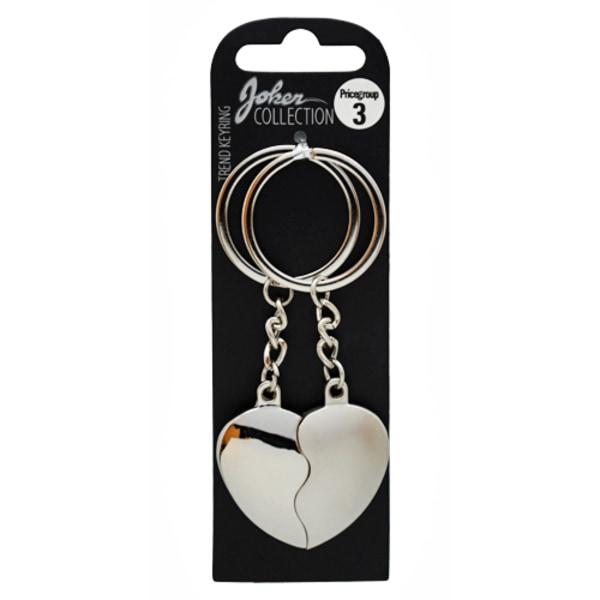 Nyckelring, Hjärta 50/50 silver