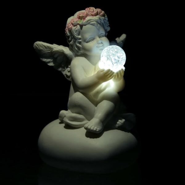 Rosenknopp, Kerub på hjärta med led kristallkula vit