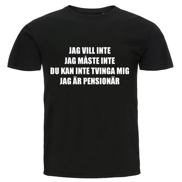 T-shirt - Jag är pensionär svart XXL