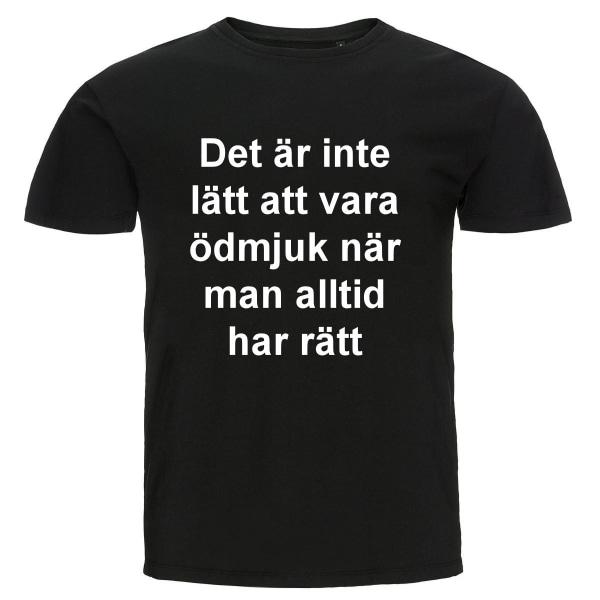 T-shirt - Ödmjuk svart 3XL