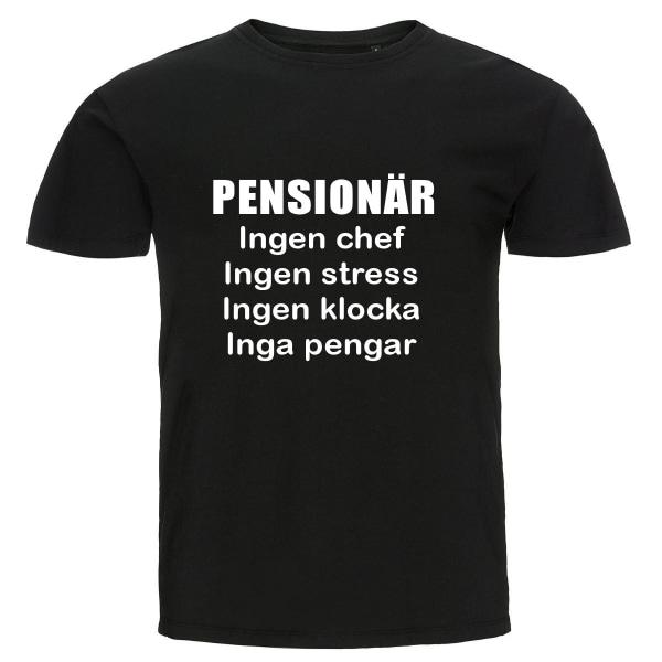 T-shirt - Pensionär, Inga pengar svart XXL
