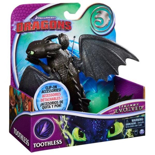 Dragons Basic Legends Toothless med Clip-on tillbehör