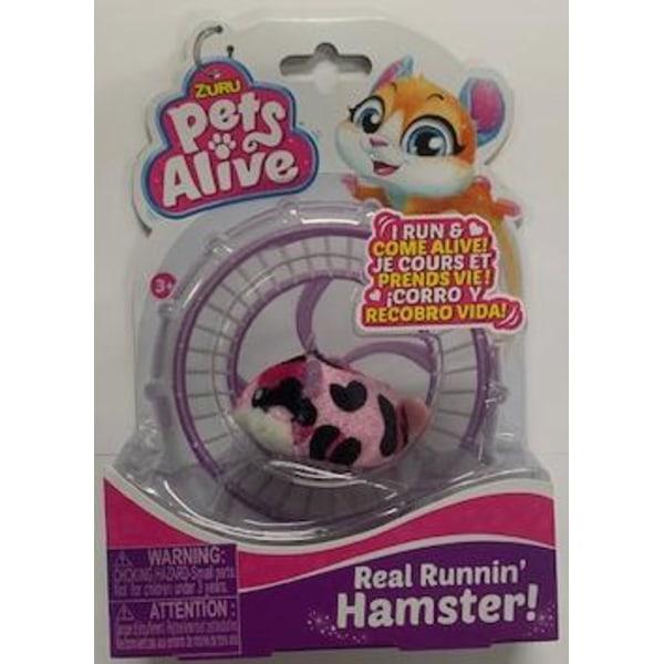 PetsAlive S1 Hamster Rosa svartfläckig
