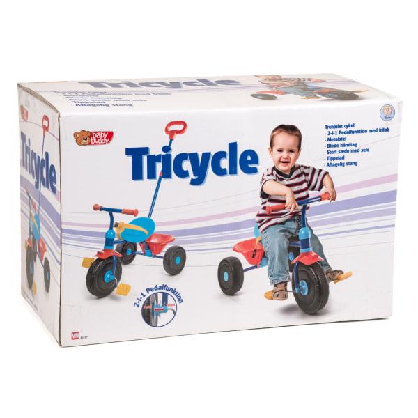Trehjuling med flak och stång