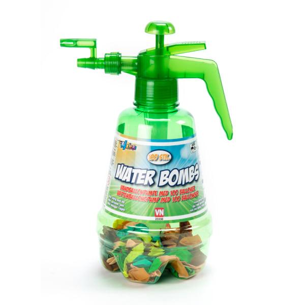 Vattenpump med 100 vattenballonger Grön