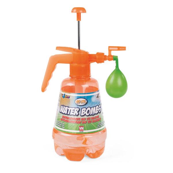 Vattenpump med 100 vattenballonger Orange