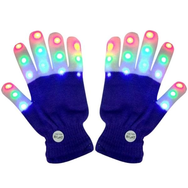 1Pair LED Flashing Magic Glove Glow Kid Adult Party Props black
