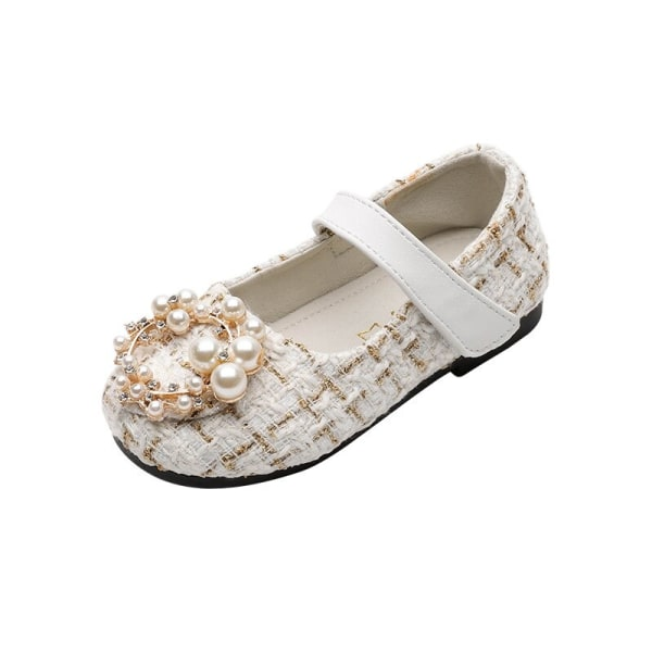 2-7Y Kids Girls PU Soft Bottom Princess Retro Dance Shoes