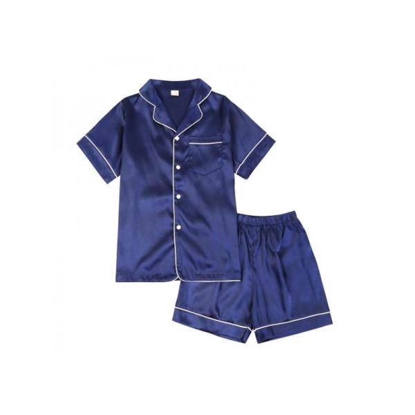 2 St / Set Sommar Höst Flicka Pojke Mode Silke Pyjamas Nattkläder