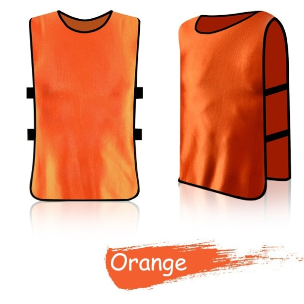 Adult Kid Team Sports Football Soccer Training Vest sports orange adult