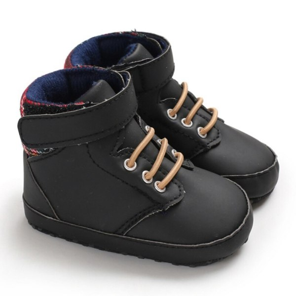 Autumn Baby Boys Shoes Breathable Patchwork Anti-Slip Toddler black 12-18 month