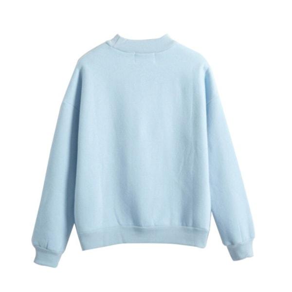 Höst Casual Harajuku Kawaii Black Cat Sweatshirts för kvinnor