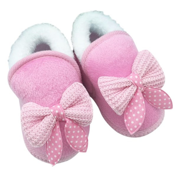 Baby Boys Girls Warm Plush Boot Infant Soft Bootie Crib Shoes pink l
