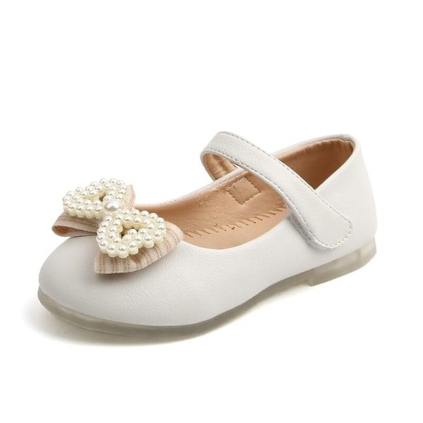 Baby Girl Anti-Slip Casual Walking Shoes Pearl Bow Princess