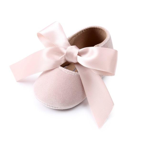 Baby Girl Shoes Riband Bow Snörning Läder Princess Mockasiner