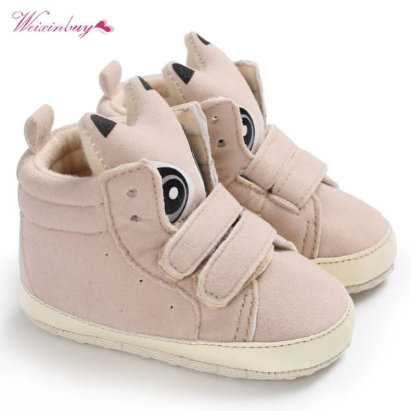 Baby Scrub Shoes Boy Girl First Walkers Soled Non-slip Shoes Beige M