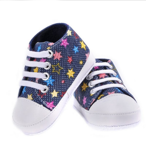 Baby Shoes Girls Boys Lace-up Canvas Shoes Soft Casual Shoes colorful 12-18 months