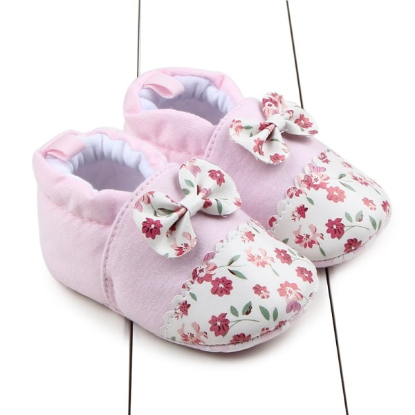 Baby Slipper Warm Plush Booties Indoor Soft Slipper Crib Shoes pink 12