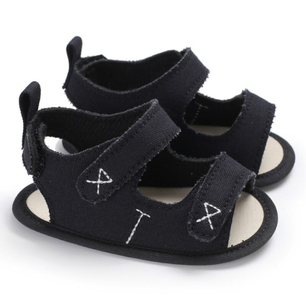 Boys Girls Cute Shoes Sandals Summer Soft Anti-skid Shoes Black M