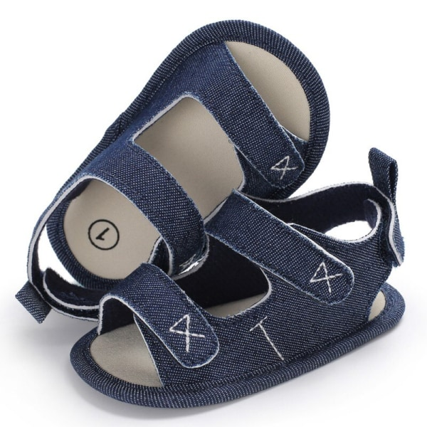 Boys Girls Cute Shoes Sandals Summer Soft Anti-skid Shoes Blue S