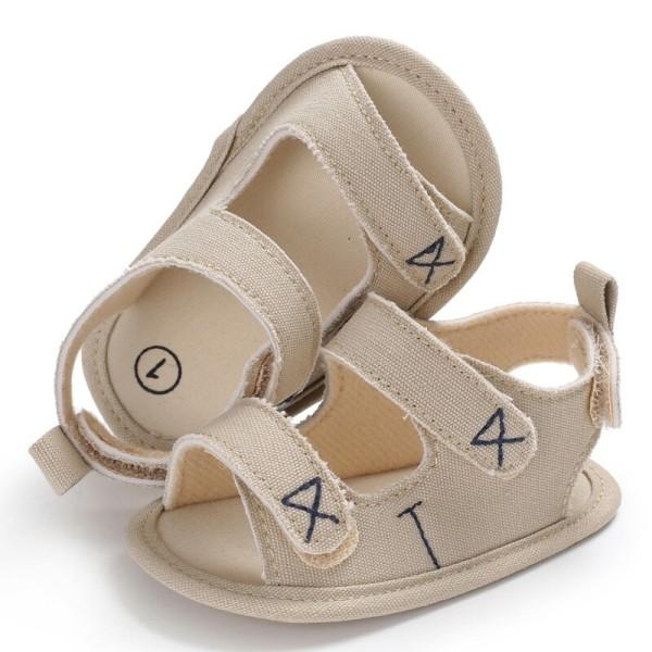 Boys Girls Cute Shoes Sandals Summer Soft Anti-skid Shoes Khaki M