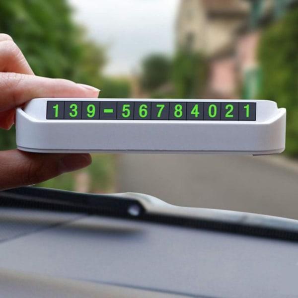 Tillfälligt stoppskylt för bil Parkeringskort Lysande telefonnummer