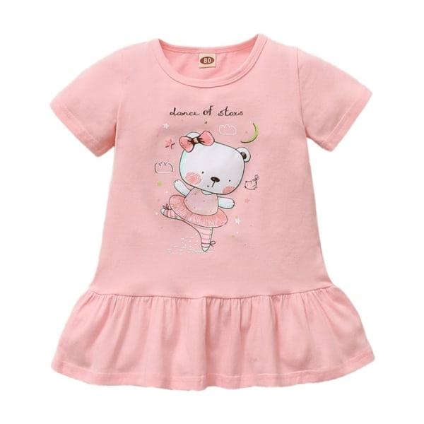 Casual Dress Summer Kids Princess Dresses 3-24 Months pink 9-12M