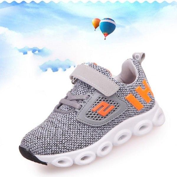 Barn andas skor LED lysande löparskor