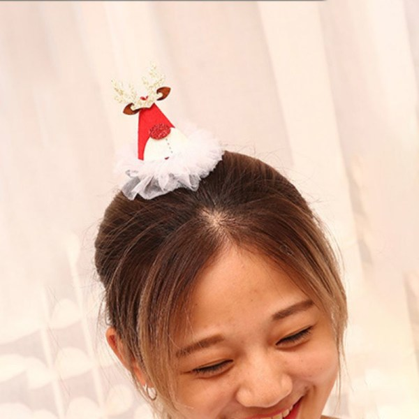 Christmas Hat/Tree Hair Clip Kids an Adults Gifts Party Decor E China