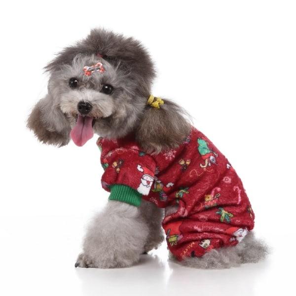 Hundkläder Jacka Vinter Varm husdjur Hundrock Valp Tryckt