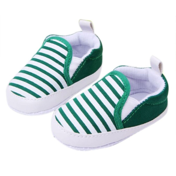Mode höst babyskor randiga antiskid spädbarn småbarn skor