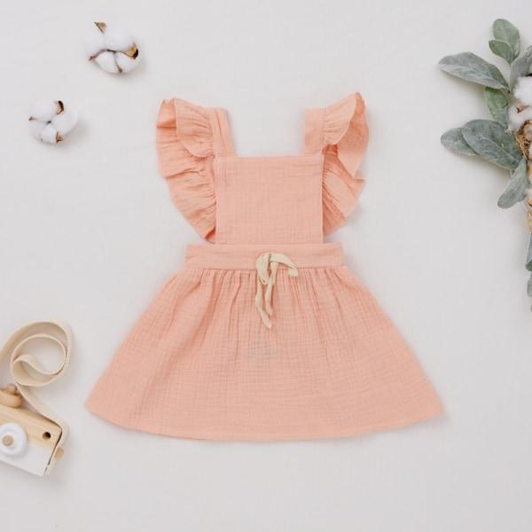 Girl Dress Summer Clothes Kids Girl Clothes pink 12M