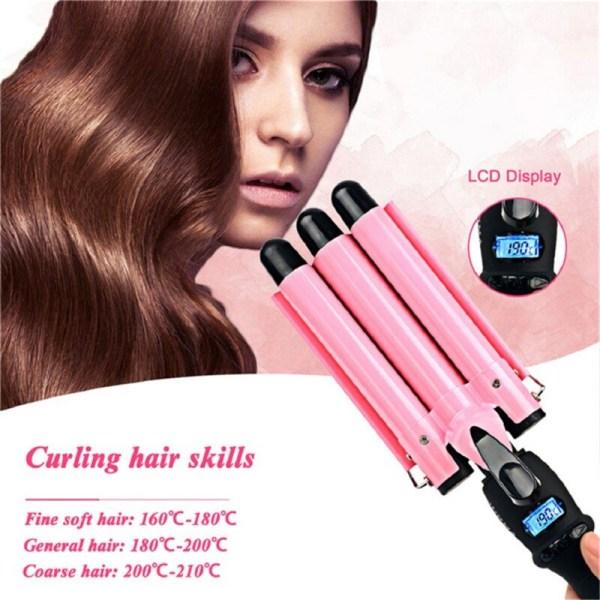 Hair Curling Iron Wand Ceramic Hair Curler Hair Waver Curlers 32mm