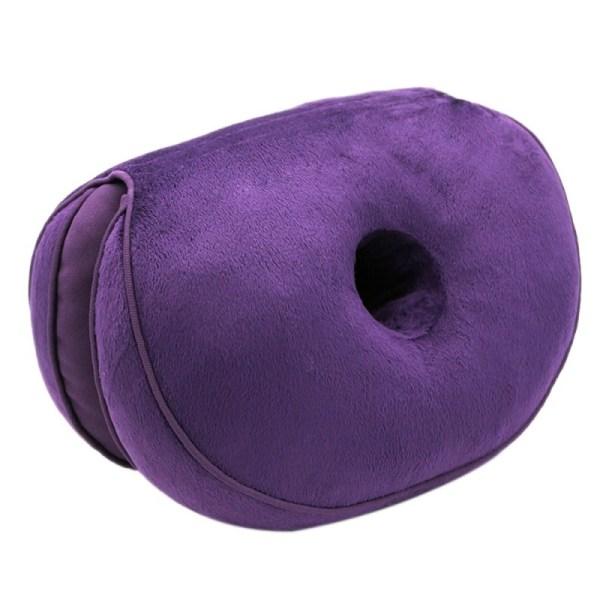 Hot Home Office Dual Comfort Cushion Lift Hips Up Seat Cushion purple