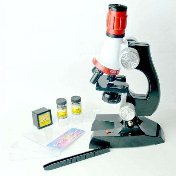 Barnmikroskop Kit Lab LED 100X-1200X Hemundervisningsleksak