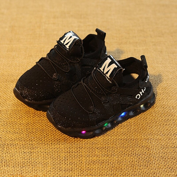 Kids Boy Girl sports Shoes LED Light Up Shoes Sneakers Luminous pink 23