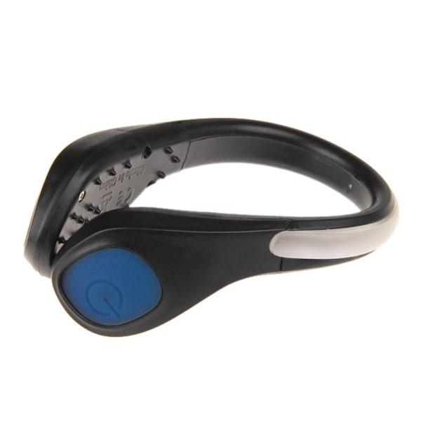 LED Luminous Shoe Clip Light Night Safety Warning Flash Light Blue