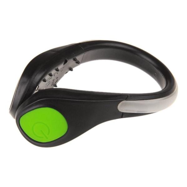 LED Luminous Shoe Clip Light Night Safety Warning Flash Light Green