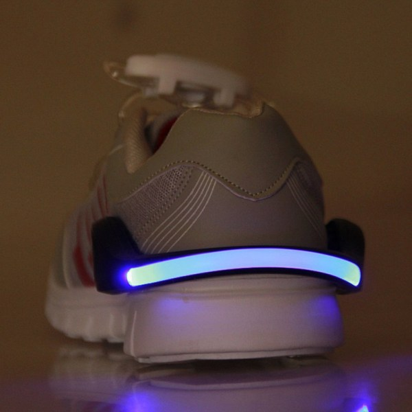 LED Luminous Shoe Clip Light Night Safety Warning Flash Light Red