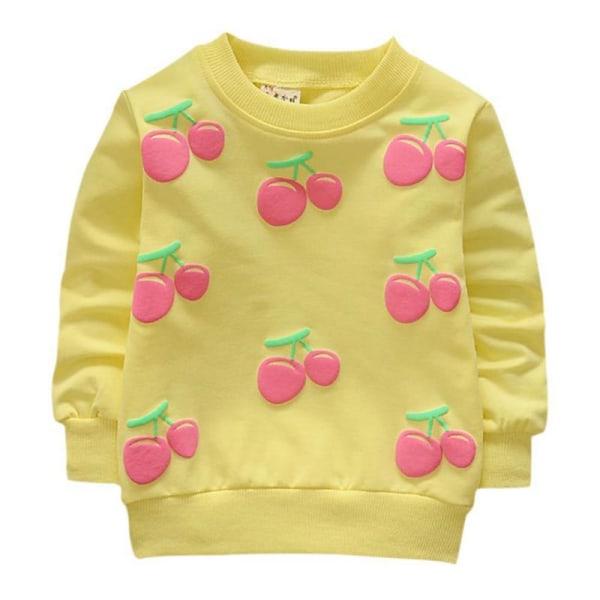 Härliga nyfödda flickor utkläder söta körsbärsrockar Knappen varm