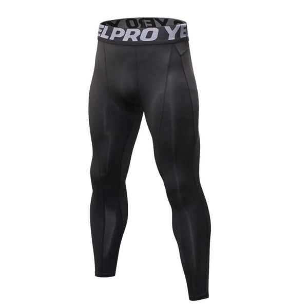 Men Compression Fitness Pants Tights Bodybuilding Male Trousers black XL