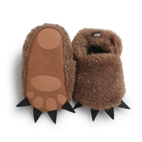 Modeling Monster Paw Baby Worm Slippers Winter Baby Shoes dark brown m