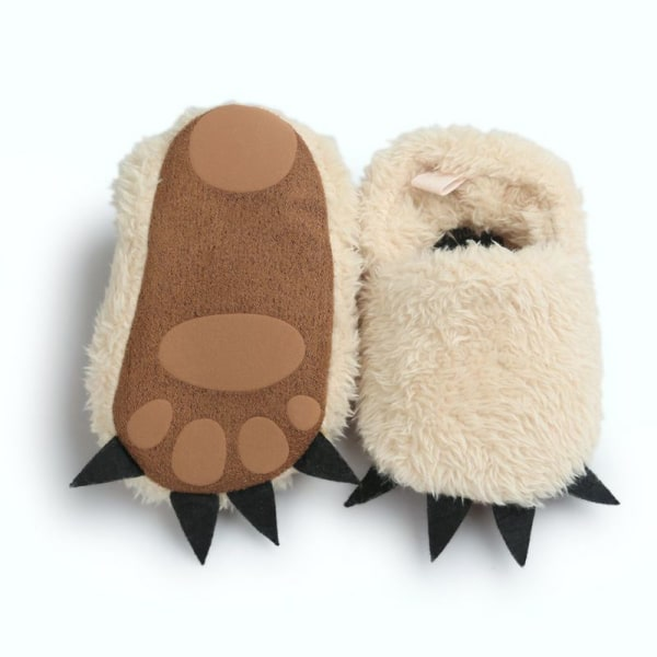 Modeling Monster Paw Baby Worm Slippers Winter Baby Shoes khaki l