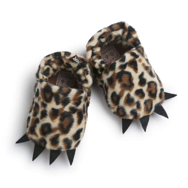 Modeling Monster Paw Baby Worm Slippers Winter Baby Shoes leopard l