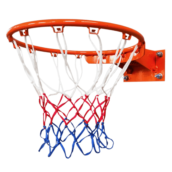 Nylon Thread Sports Basketball Hoop Mesh Net Backboard Rim Ball White Red Blue one size
